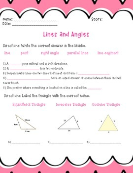 Lines/Angles Test