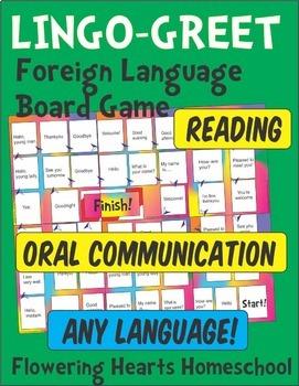 Lingo-Greet Board Game