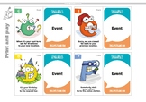 LinguaPolis NY Game: 26 Event Cards