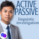 Active vs. Passive Voice:  Linguistic Investigation