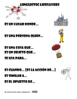 Linguistic Lifesavers [Circumlocutions in Spanish]