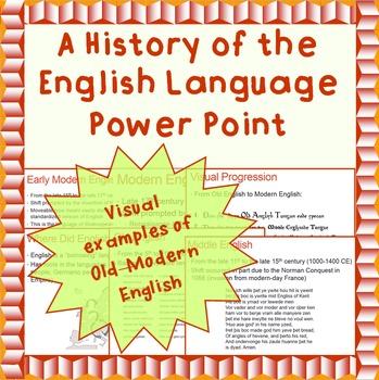 Linguistics: A History of the English Language - A Power Point Presentation