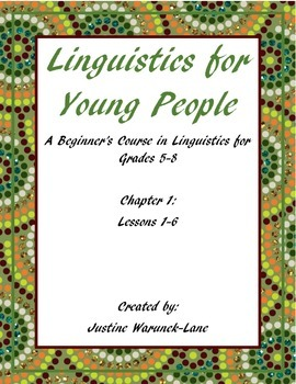 Linguistics for Young People (L-SINC Curriculum) Chapter 1