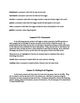 Linguistics for Young People (L-SINC Curriculum) Chapter 4- TEACHER'S GUIDE