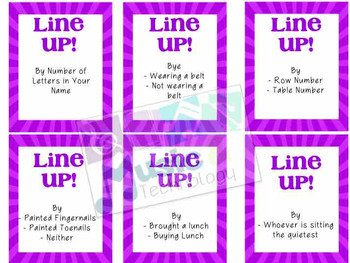 Line Up Cards (25 Cards)
