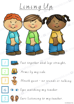 Lining Up Classroom Poster