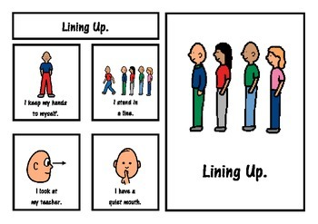 Lining Up Social Story
