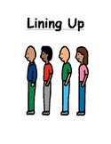 Lining Up Social Story