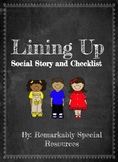 Lining Up Social Story and Checklist Poster