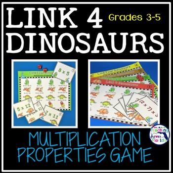 Properties of Multiplication - Link 4 Dinosaurs Game