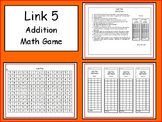 Link Five - Addition and/or Multiplication Facts Practice Game