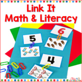 Link It Alphabet Number and Shape Fine Motor Skills Activities