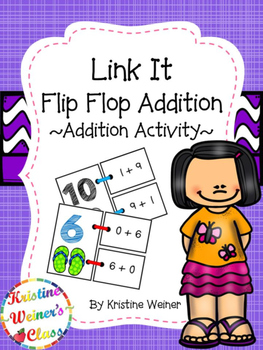 Link It - Flip Flop Addition {An Addition Activity}