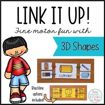 3D Shapes Math Center {Link it Up!}