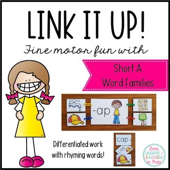 Link It Up! Fine Motor Fun with Short A Word Families