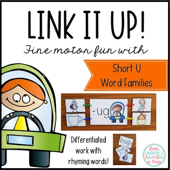 Link It Up! Fine Motor Fun with Short U Word Families
