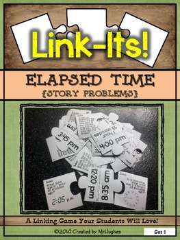 Elapsed Time {Story Problems} Link-Its! Set #1