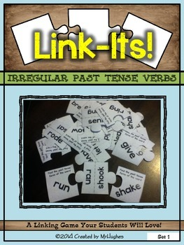 Irregular Past Tense Verbs Link-Its! Set #1
