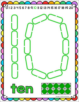 Link & Learn SAMPLER (English) Mats for Links - Playdough Alternative