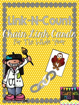 Link-N-Count Through The Year - Math Chain Link Cards