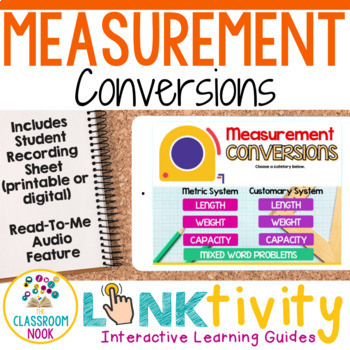 Link & Think Digital Guide-Measurement Conversions {Google Classroom Compatible}