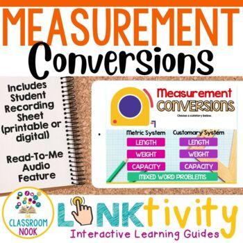 Link & Think Digital Guide-Measurement Conversions {Google Classroom Compatible}
