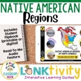 Link & Think Digital Guide-Native American Regions {Google Classroom Compatible}