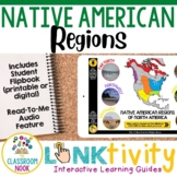 Link & Think Digital Guide-Native American Regions {Google Classroom Compatible}