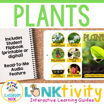 Link & Think Digital Learning Guide: Plants {Google Classroom Compatible}
