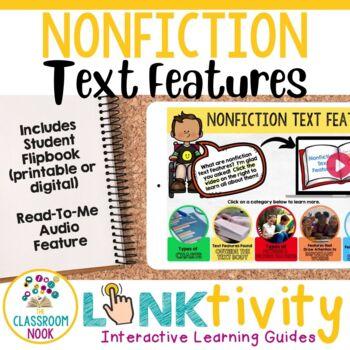 Link & Think:  Nonfiction Text Features (Google Classroom Compatible)