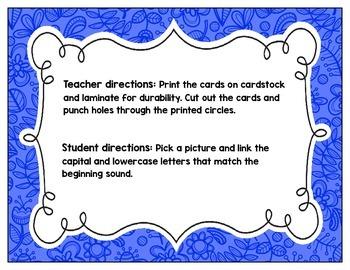 Link-a-Letter Cards: Letter/Sound Recognition Practice