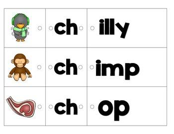 Link-a-Word Cards: Beginning Digraphs Set
