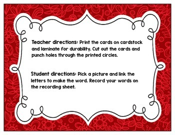 Link-a-Word Cards: CVC Short A Set