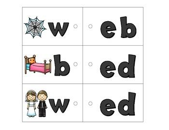 Link-a-Word Cards: CVC Short E Set