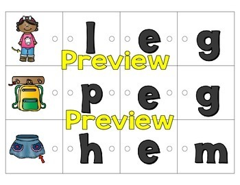 Link-a-Word Cards: CVC Words Bundle