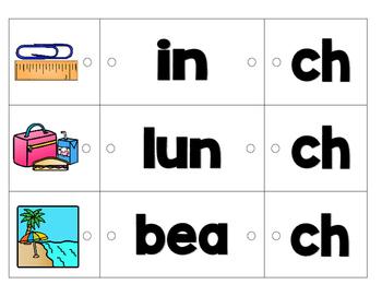 Link-a-Word Cards: Ending Digraphs Set