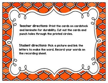 Link-a-Word Cards: R-Blends Set