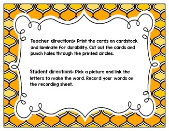 Link-a-Word Cards: S-Blends Set