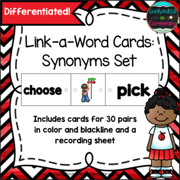 Link-a-Word Cards: Synonyms Set