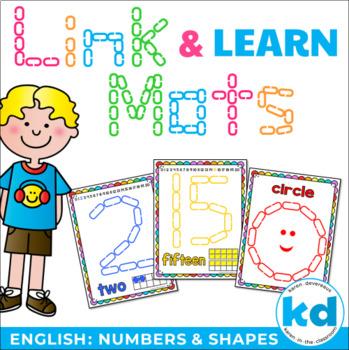 Number & Shape Mats for Links - ENGLISH (Playdough Alterna