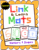Number & Shape Mats for Links - SPANISH (Playdough Alternative)  Link & Learn