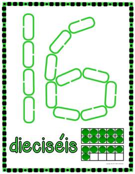Number & Shape Mats for Links - SPANISH (Playdough Alternative)  Link & Learn