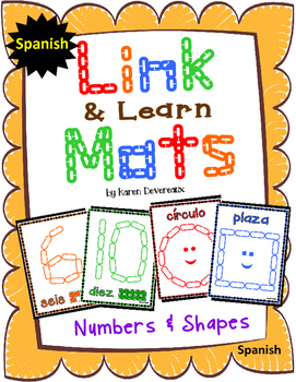 Number & Shape Mats for Links - SPANISH (Playdough Alterna