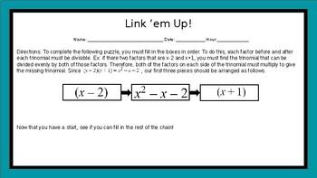 Factoring Trinomials: Link 'em up!