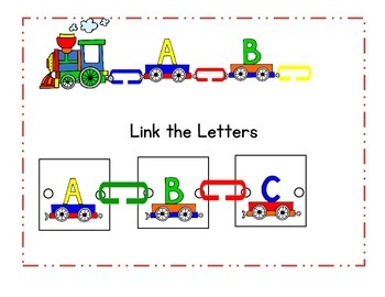 Link the Letters - use plastic links to practice alphabetic order
