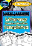 Linked Learning: Parent Communication Templates, Literacy  *Editable Version