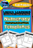 Linked Learning: Parent Communication Templates, Math  *Editable Version