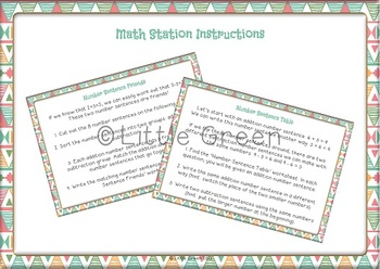 Linking Addition and Subtraction - Ideas, Math Centers and Worksheets