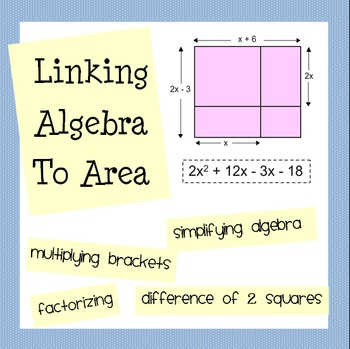 Linking Algebra and Area - Expanding Brackets & Factoring