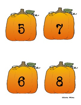 Linking Chain Math Center, featuring Pumpkins